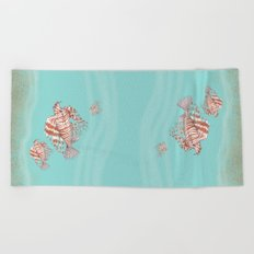 Fish Manchu Beach Towel