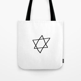 Star of David 14- Jerusalem -יְרוּשָׁלַיִם,israel,hebrew,judaism,jew,david,magen david Tote Bag