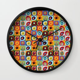 Farbstudie Quardrate by Wassily Kandinsky Wall Clock