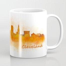 Cleveland City Skyline Hq V3 Coffee Mug