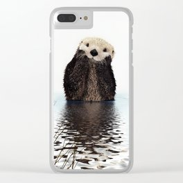 Adorable Smiling Otter in Lake Clear iPhone Case