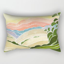 East Bay Devil Mountain in Summer Rectangular Pillow
