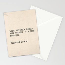 "Quote Sigmund Freud ""Being entirely honest with oneself is a good exercise."" Stationery Cards"