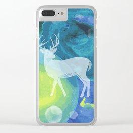 Deer in Blue Waters Clear iPhone Case