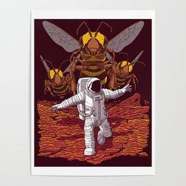 Killer bees on Mars. Poster