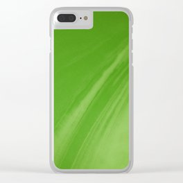 Blurred Emerald Green Wave Trajectory Clear iPhone Case