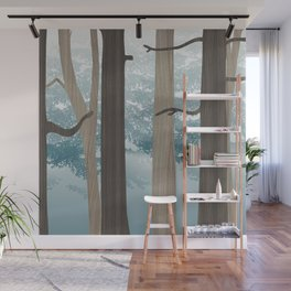 Forest Blue Wall Mural