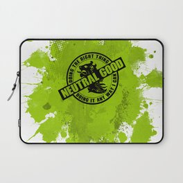 Neutral Good RPG Game Alignment Laptop Sleeve