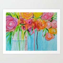 Running Roses Art Print