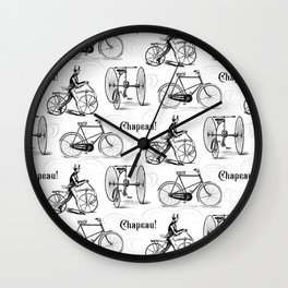 Vintage Cyclist Old French Bicycles Wall Clock
