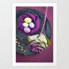 Easter floral still life Art Print