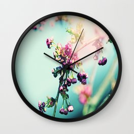 Romantic spring Flowers Wall Clock