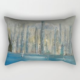 city by the sea Rectangular Pillow