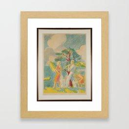 Figure Scene in the landscape, Isaac Grunewald, (1889-1946) impressionist Framed Art Print
