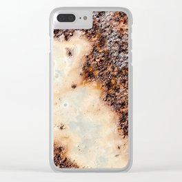 Cool brown rusty metal texture Clear iPhone Case