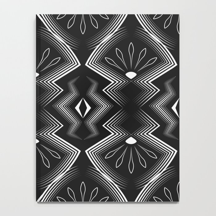 """Art Deco . Black and white pattern .""""Constance """". Notebook"""