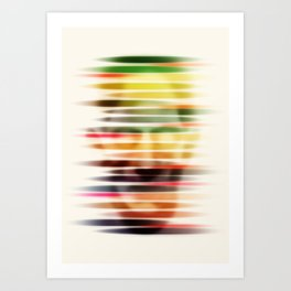 Troubled Face Art Print