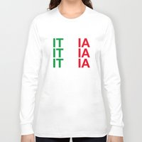 italy Long Sleeve T-shirts featuring ITALY by eyesblau