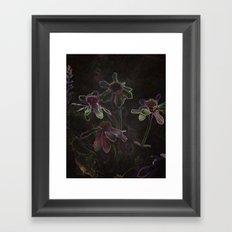 Flowers and Tea Framed Art Print