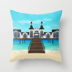 Seebrücke Sellin Throw Pillow