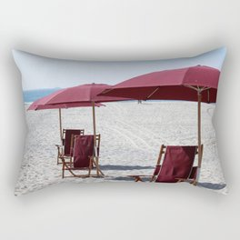 Beach at Hotel Del Coronado Rectangular Pillow