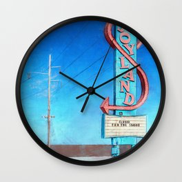 Vintage Neon Sign - Joyland Wall Clock
