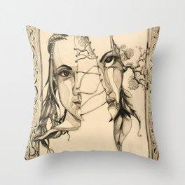 Bipolar by Kate Morgan Throw Pillow