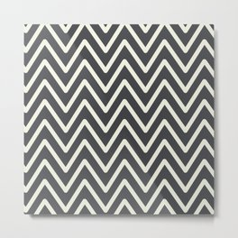 Chevron Wave Asphalt Metal Print