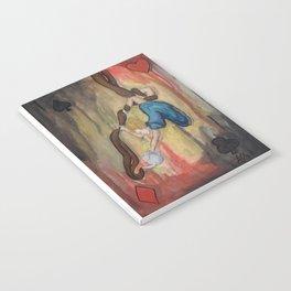 alice on silks by Lilly Hibbs Notebook