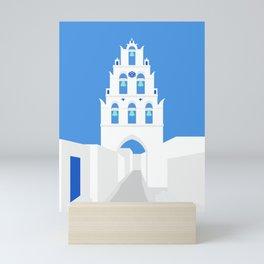 Bell Tower, Megalochori Village, Santorini, Greece Mini Art Print