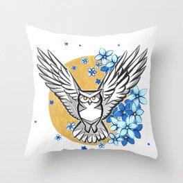 Oracle Owl Throw Pillow