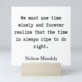 64   | Nelson Mandela  Quotes | 190818 Mini Art Print
