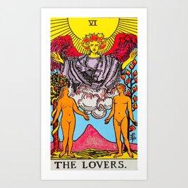 The Lovers Tarot Card Art Print