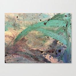 Sea Side Splatter Canvas Print