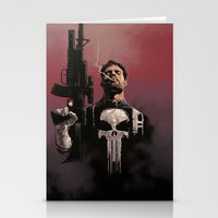 punisher Stationery Cards featuring Punisher by Dave Seguin