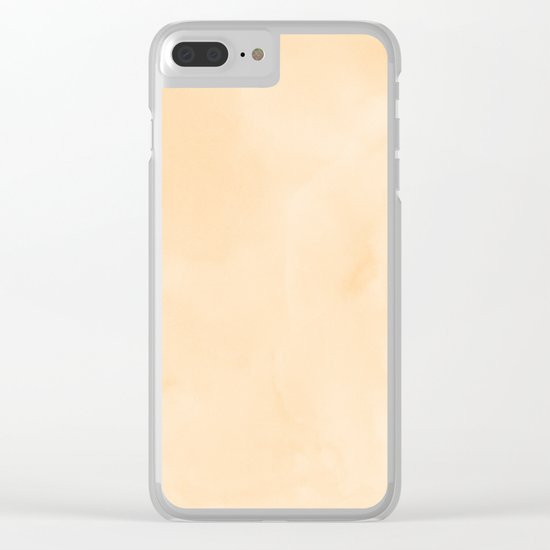 Simply Orange Sherbet Watercolor Clear iPhone Case