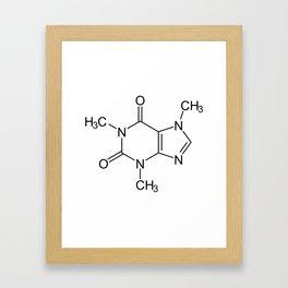 Caffeine Molecule Framed Art Print