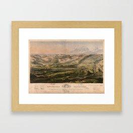 Gettysburg Battlefield July 1st, 2nd, 3rd 1863 Framed Art Print