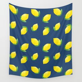 Freshly Squeezed on Navy Wall Tapestry