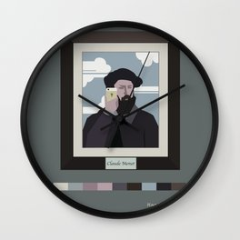 Selfie of Claude Monet Wall Clock