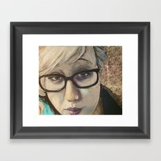 Smart Girl At The Party Framed Art Print