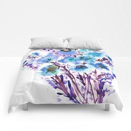 Bouquet Blue Comforters