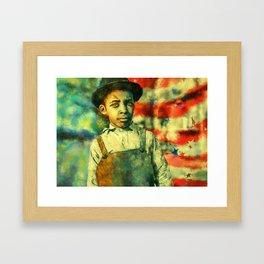 Face of Greatness Framed Art Print