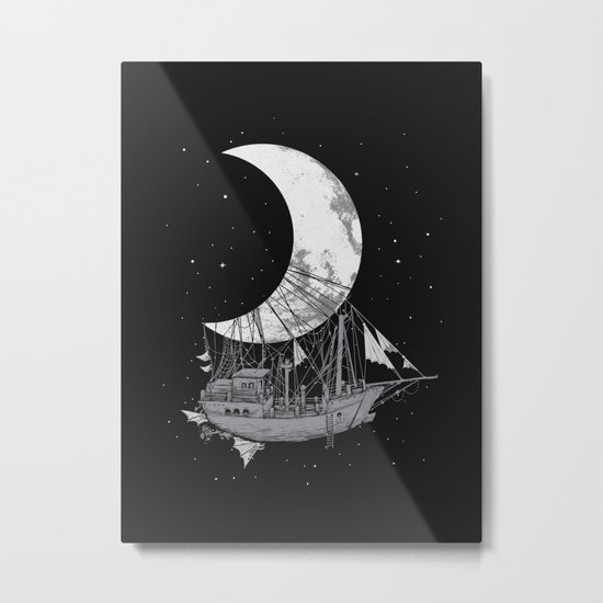 Moon Ship Metal Print