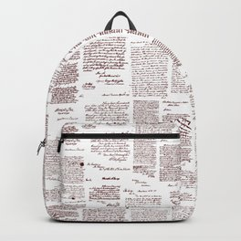 George Washington's Letters // Red Ink Backpack