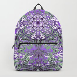 Lilac and Pink Pattern Backpack