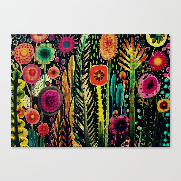 printemps (old fabric) Canvas Print