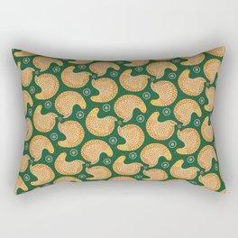 Yellow hen pattern on green Rectangular Pillow