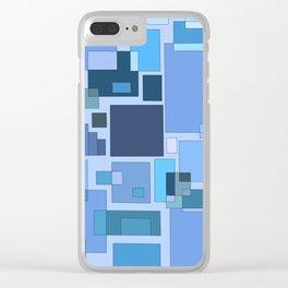 Blue Statistics Clear iPhone Case