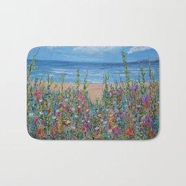 Summer Beach, Impressionism Seascape Bath Mat